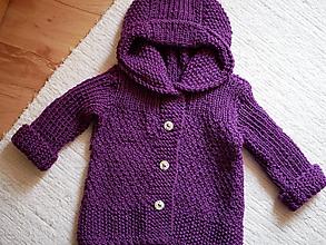Detské oblečenie - detský svetrík s kapucňou - 10498698_