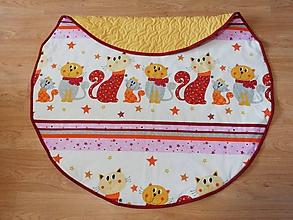 Textil - Okrúhla detská hracia podložka Mačky 124cm - 10497333_