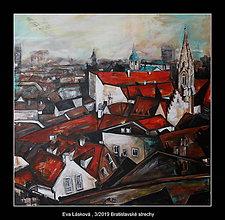 Obrazy - Bratislavské strechy - 10499243_