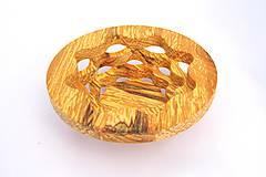 Nádoby - Drevená miska 17cm špaltovaná jelša - 10496858_