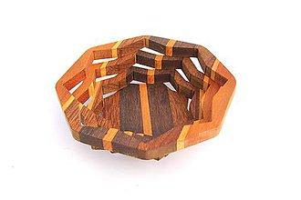 Nádoby - Drevená miska 16cm - 10496868_