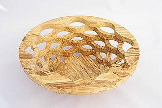 Nádoby - Drevená miska 26cm - 10496884_