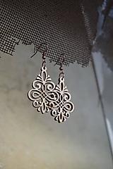 Náušnice - Drevené náušnice - Ornament - 10499195_