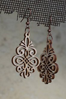 Náušnice - Drevené náušnice - Ornament - 10499193_