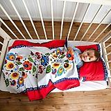 Textil - Minky deka  Veľké kvety  100x75cm ZĽAVA !!! - 10497583_