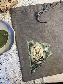 Úžitkový textil - Ľanové vrecko na potraviny - OLÍVIA II - 10497072_