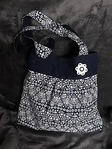 Veľké tašky - modrá a ľudová taška - 10498617_