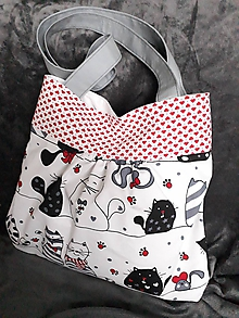 Veľké tašky - taška-mačka a myš - 10498835_