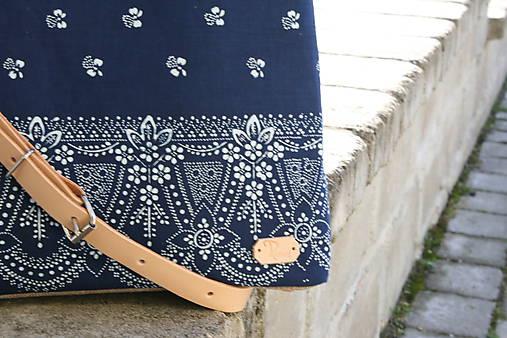 modrotlačová kabelka Nora natur 7