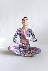 Nohavice - Lines mandalas (old pink) - legíny - 10498908_