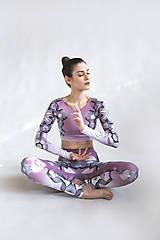 Nohavice - Lines mandalas (old pink) - legíny - 10498915_