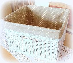 Košíky - Košík kapučíno 4 (32 x 37  výška 24 cm) - 10498220_