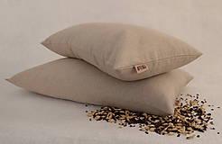 Úžitkový textil - Šupkový FILKI vankúš 40 cm (prírodný poloľanový) - 10496904_