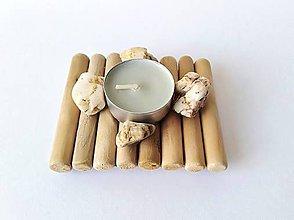 Svietidlá a sviečky - Prirodný svietnik - 10498153_