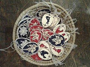 Dekorácie - Kraslice z dreva - modrotlač - 10502025_