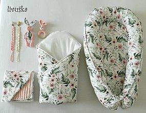 Textil - Veľký set pre bábätko - Kvety - 10502448_
