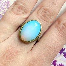Prstene - Antique Bronze Opalite Ring / Vintage prsteň s opalitom /2035 - 10500711_