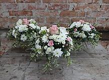 Dekorácie - Aranžmány na svadobný stôl - 10503063_