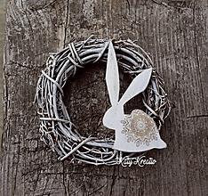 Dekorácie - dekoračný zajko...skladom - 10501877_
