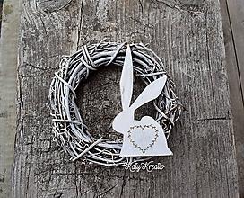 Dekorácie - dekoračný zajac SKLADOM - 10502809_