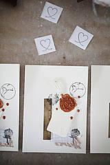 Narodeniny alebo svadba / scrapbook pohľadnica