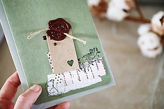 Papiernictvo - Narodeniny alebo svadba / scrapbook pohľadnica - 10502576_