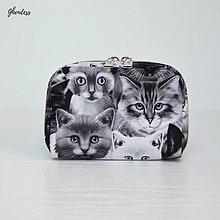 Peňaženky - Peněženka - Černobílé kočky - 10500682_