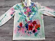 Košele - Blúzka farebné vítanie jari - 10501029_