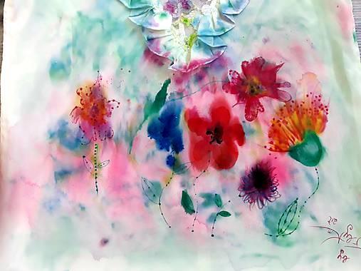 Blúzka farebné vítanie jari