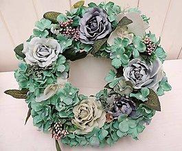 Dekorácie - Celoročný veniec s ružami - 10502426_