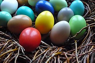 Dekorácie - Pestrofarebné kraslice- sada - 10502743_