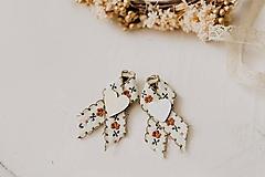 Pierka - Hnedé romantické pierka - 10500305_