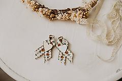 Pierka - Hnedé romantické pierka - 10500308_