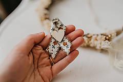 Pierka - Hnedé romantické pierka - 10500309_