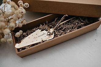 Pomôcky - Zlatá lopatka s razeným textom:Vždy originál - 10500290_