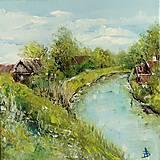 Obrazy - Chatky pri vode_predané - 10501950_