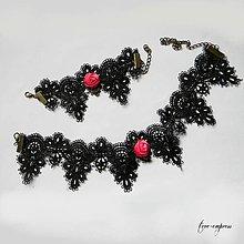 Sady šperkov - Gotická súprava - obojok a náramok - 10500556_