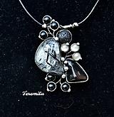 Náhrdelníky - Souhra - křišťál s turmalínem - 10500299_