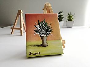 Obrazy - Konvalinky vo váze - miniatúrna maľba - 10500383_