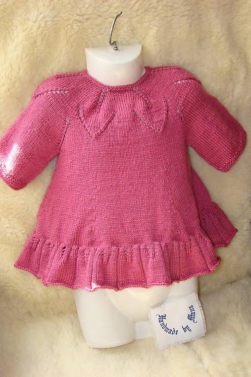 2930cdac4b42 Pletené detské šaty staroružové   mana61 - SAShE.sk - Handmade ...