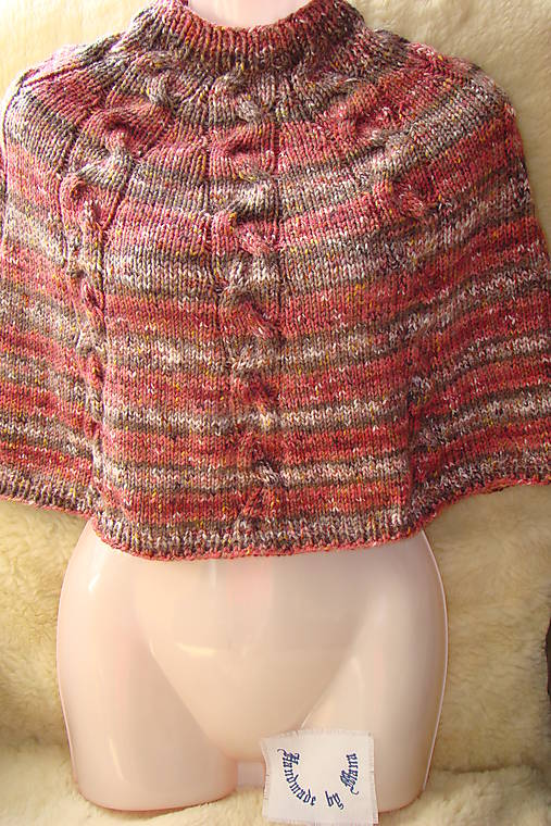 096f1b1bf Pletené dievčenské pončo / mana61 - SAShE.sk - Handmade Detské oblečenie