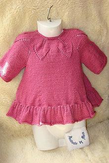 Detské oblečenie - Pletené detské šaty staroružové - 10502102_