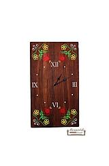 - Orechové hodiny s ľudovým ornamentom - 10502319_