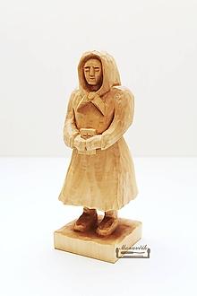 Socha - Tetka - drevená soška - 10502330_