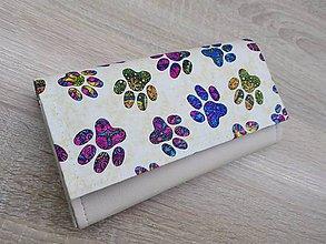 Peňaženky - Peňaženka,koženka,bavlna - 10502365_