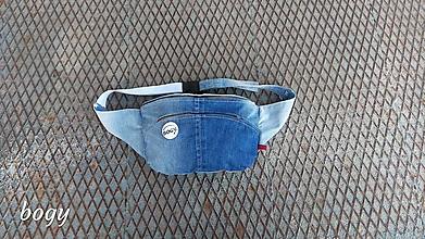 Iné tašky - unisex recy riflová ledvinka se záhyby, HEBL - 10502510_