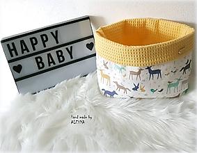 Textil - košik na plienky z vafle bavlny - 10501502_