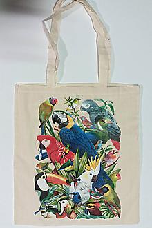 Veľké tašky - Taška – Papágaje 01 - 10503540_
