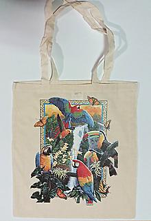 Veľké tašky - Taška – Papágaje 012 - 10503553_