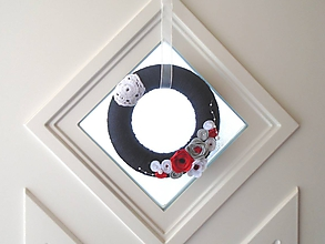 Dekorácie - Dekorácia na dvere (Veniec tmavomodrý) - 10500298_